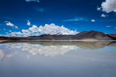 CHILE - ATACAMA (EnioCastroMachado) Tags: sky blue clouds nuvens água water reflexos chile atacama natureza paisagem landscape