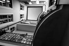Lesser Town Courtyard III. (Tanya.Kirilova) Tags: courtyard lessertown prague praha malástrana composition blackandwhite bw urban urbanphotography urbanabstract lines balcony прага geometry tokina1120mm city cityscape historical architecture