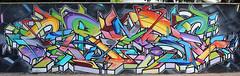 Crase (Bombardeur) Tags: sud ouest chrome couleur légal illégal plan vandal art urbain street peinture paint éphémère graffiti graf fresque route terrain voie férrée rail panel whole train car tag tags