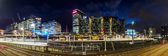 City Lights (Joel Bramley) Tags: melbourne cityscape city night panoramic lights railway train