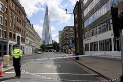 After London attacks (soleneelle) Tags: attacks london journalism journaliste writer blog bridge shard police peace stand together affraid borough market flowers report