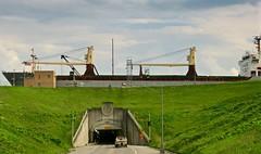 Ships Passing... (deanspic) Tags: lock eisenhowerlock seaway massena ny boat ship tunnel g3x explore