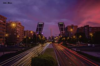 Anochece en Madrid