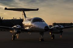 Embraer EMB 121AA Xingu - 11 (NickJ 1972) Tags: raf northolt photoshoot photocall photo shoot evening sunset aviation 2017 xxii 22 embraer emb 121 xingu 105 yu