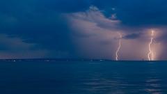 Gewitter (olijaeger) Tags: blitz blitze thunderstorm bodensee see lake sturm water wasser outdoor seascape landscape longexposure av blau langenargen cumulonimbus lightningstrike lightning blue sky lakeconstance nature nachtfotografie