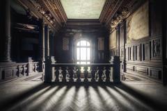 Světlo na konci... (Michal Seidl) Tags: abandoned castle opuszczony palac opuštěný zámek hdr urbex poland von magnis lost decay stairs staircase canon 6d sigma 1224