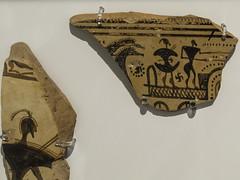 "Greek Archaic Pottery – LG Krater Fragment (egisto.sani) Tags: atene lgp man museoarcheologiconazionale vasi krater ""krater fragment"" cratere ""frammento di cratere"" ""dipylon painter"" ""pittore del dipylon"" ""attic pottery"" ""ceramica attica"" ""greek ""ceramica greca"" ""arte ""greek art"" ""late geometrical period"" ""periodo tardo geometrico"" ""lg athens ""national archaeological museum"" ""museo archeologico nazionale"" nm 802"