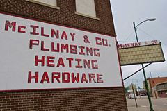 McIlnay & Co., Central City, NE (Robby Virus) Tags: centralcity nebraska ne mcilnay co company plumbing heating hardware sign signage store business