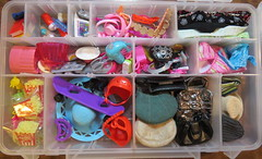 4. Everything Else (Foxy Belle) Tags: organize doll bin categorize storage keeping barbie toy accessories shoes