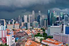 Storm is brewing, Singapore (Tatyana Kildisheva) Tags: asia centralbusinessdistrict singapore singapura southeastasia city urban азия сингапур юговосточнаяазия dsc9358 cityscape skyline storm cloudporn clouds rainstorm