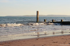 Solent Coast (Jim-Paterson) Tags: shore coast beach landscape sea waves sky sunset evening groyne dorset boscombe
