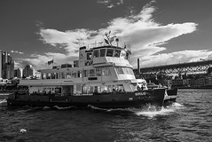 DSC00753 (Damir Govorcin Photography) Tags: ferry boat water sea circular quay sydney harbour natural light sky clouds monochrome blackwhite zeiss 1635mm sony a7rii