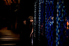 Into the Light-DSC_8452 (thomschphotography3) Tags: germany cologne cathedral kölnerdom lights shadows colours blue women streetphotography religion catholic
