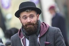 All dressed up (Frank Fullard) Tags: frankfullard fullard hat beard hair scarf dressedup fashionista fashionable smile candid street portrait galway irish ireland