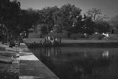 (tymnahpyka) Tags: india hampi water shadowsandlight people outdoor monotone bw bnw blackandwhite canon blackandwhitephotography canonphotography