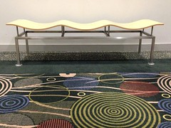 It's Monday Again! (melystu) Tags: bench carpet 50s modern wavy slc utah rest seat hbm monday 60s retro circles abstract
