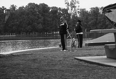 X marks the spot (TranquilCacophony) Tags: penf olympus hss sliderssunday park lake dogs people streetphotography candid morning 7dwf fauna