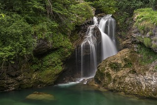 *Vintgar Gorge - Waterfall Šum*