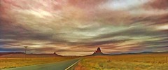 GO WEST YOUNG MAN (Irene2727) Tags: farwest west landscape scape panorama pano rock rockformations road nature outside clouds color