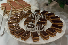 Desserts at 103 West (JavaJoba) Tags: 103west chocolateespressocake jackkennard chocolate food nikond5200 atlanta ga usa dessert