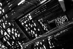 Géométrie mucemienne (vedebe) Tags: noiretblanc netb nb bw monochrome ville city rue urbain street lumières lumière escaliers mucem marseille provence architecture