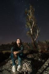Fantasmas (emiliokuffer) Tags: portrait retrato long exposure larga exposición árbol tree night clear noche estrellas stars forest road campo camino light luz she her ghost fantasma