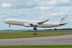 HZ-SKY1 Sky Prime Airbus A340 EGNX 3/6/17 (David K- IOM Pics) Tags: hzsky1 sky prime airbus a340 egnx hz a340200 a342 ema east midlands airport