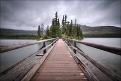 Pyramid Island, Pyramid Lake - Jasper National Park - Alberta, Canada (helikesto-rec) Tags: pyramidlake pyramidisland island jaspernationalpark jasper alberta canada lake bridge