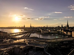 Beauty of Stockholm. Once again dramatic improvements to image quality on iPhone 7. (Moien Artoro) Tags: river slussen sweden europe trip photography love train sky oldarchitecture oldtown city top arte stockholm beauty colorized iphone sunset qualitytime inspiration