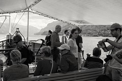 Passengers on board paddle steamer Lötschberg, on passage from Interlaken to Brienz. (velodenz) Tags: fujifilm x100f fujifilmx100f fujiusers velodenz england united kingdom uk great britain gb digital image pic picture phot photo photograph photography holiday vacation vacances urlaub trip travel leisure switzerland schweiz svizera svizzera rtc railway touring company swiss alps alpes junfgrau region bernese highlands berner oberland interlaken brienz paddle steamer ship dampfenschiff dampf schiff bateau barcode boat repostmyfuji repostmyfujifilm fuji alp lesalpes alpen alpi lasuisse svizra xseries 2000 views 2000views