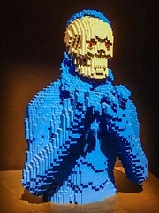 Underneath by Lego artist Nathan Sawaya (mharrsch) Tags: underneath blue skeleton skull lego sculpture art nathansawaya artofthebrick exhibit omsi oregonmuseumscienceandindustry oregon mharrsch