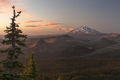 Mt. Jefferson at Sunset (roe.nate) Tags: mountain volcano tree clouds sunset forest lake wilderness cascades pnw northwest oregon landscape outdoor