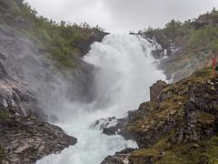 Kjosfossen and Huldra (neil.bulman) Tags: norway cruise scandanavia huldra thomson landofthemidnightsun water flam kjosfossen waterfall thomsoncelebration flåm sognogfjordane no