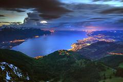 Stormy Sunset (hapulcu) Tags: lacleman lakegeneva rochersdenaye genfersee leman montreux schweiz suisse suiza svizzera swiss switzerland vaud lake spring