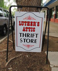 Luther's Attic — Moorpark, California (TedParsnips) Tags: lutheran thriftshop thrift thriftstore moorpark venturacounty southerncalifornia california store used donate church sign