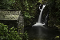 The Grotto at Rydal Hall (Niaic) Tags: rydal hall grotto longexposure nd filter neutraldensity waterfall motion movement building stone water blur blurred lakedistrict cumbria hidden secret scenic outdoors plants trees green