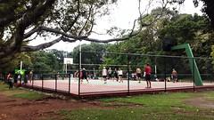 Parque ibirapuera (polianaamaral) Tags: parque jogo pessoas quadra arvóres terra bandeira grama