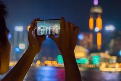 Taking a Panorama-Shot, Hongkong 16/188 (*Capture the Moment*) Tags: 2017 architecture architektur fotowalk hongkong nachtaufnahmen nightshot smartphone sonya7m2 sonya7mii sonya7mark2 sonya7ii sonyfe2470mmf4zaoss sonyilce7m2 view