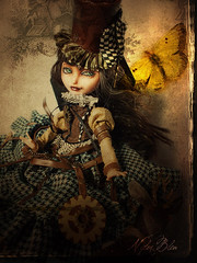 In the gold book (NylonBleu) Tags: evh ever after high doll ooak repaint nylonbleu steampunk