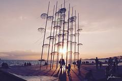 U M B R E L L A S (gblaxos) Tags: sky landscape sea sunset water travel sun light ocean evening pier dawn dusk no person umbrellas macedoniagreece makedonia timeless macedonian macédoine mazedonien μακεδονια