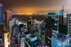 Sleepless in Sheung Wan (Tim van Zundert) Tags: hongkongisland hongkong china buildings city cityscape tower water landscape night evening longexposure sony a7r voigtlander 21mm ultron