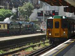 Southern Veterans (Deepgreen2009) Tags: southern steam uksteam railway train bulleid 455 victoria veterans