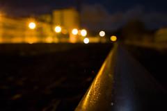 Rails & Lights (Mica.LRecorder) Tags: linhaferrea rails defocus desfoque luz light shine brilho yellow canon micalrecorder