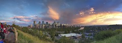 Canada Day Panorama (John Andersen (JPAndersen images)) Tags: bowriver calgary canada150 city panorama skyline sunset viewpoint yyc