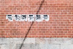 Street Alignments. (louisverplancken) Tags: wall street line alignment simple simplicity art scratch brick stone poster posters namur namen belgique belgium canon eos 7d mkii 50mm ef f18 urban minimal minimalism light
