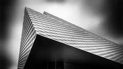 Level up (Robert_Franz) Tags: architecture architektur basel messe modern futuristic exterior longexposure blackwhite facade fineart clouds sky urban city