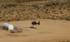 Refueling Station (Prayitno / Thank you for (12 millions +) view) Tags: konomark fly maverick helicopter tour wind dancer flameable fuel tank refuel station middle desert landing heli touch down outdoor flight day time sunny bright sun shine nv nevada
