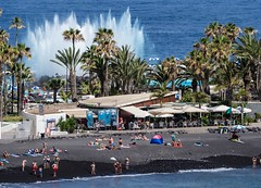 Puerto Del La Cruz, Tenerife, June 2017. (CWhatPhotos) Tags: beach sea atlantic people fountain blue trees tree puerto del la cruz tenerife going holiday holidays photographs photograph pics pictures pic picture image images foto fotos photography artistic that have which with contain olympus esystem four thirds digital camera lens 43 mft micro cwhatphotos