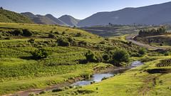 Lesotho landscape (Hans van der Boom) Tags: holiday vacation southafrica zuidafrika sawadee lesotho river maseru lso