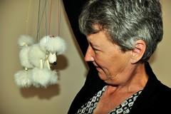 195 2017 white poodle Pelham puppet (Margaret Stranks) Tags: 195365 365days 2017 pelhampuppet white poodle dog marionette